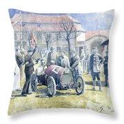 1922 Zbraslav Jiloviste Bugatti T13 Brescia Joan Halmovici Winner  Throw Pillow