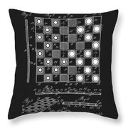 1923 Checkers And Chess Board Throw Pillow