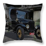1923 Ford Model T Truck Throw Pillow