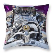 1923 Ford T-bucket Engine Throw Pillow