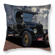 1923 Model T Ford Truck Throw Pillow