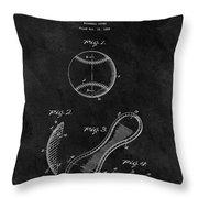 1924 Baseball Patent Illustration Throw Pillow