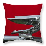 1924 Ford Hood Ornament Throw Pillow