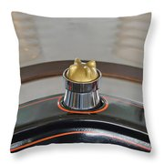1924 Ford Model T Roadster Hood Ornament Throw Pillow