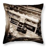 1924 Hispano-suiza H6b Dual  Cowl Sport Phaeton Engine Emblem -0258s Throw Pillow