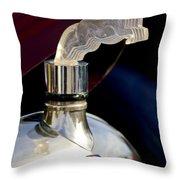 1925 Citroen Cloverleaf Hood Ornament Throw Pillow