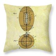 1925 Football Patent Throw Pillow