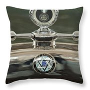 1926 Dodge Woody Wagon Hood Ornament Throw Pillow