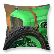 1926 Ford Model T 'dry Lakes' Roadster V Throw Pillow