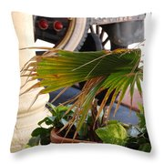 1926 Model T And Plants Throw Pillow