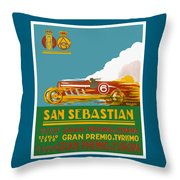 1926 San Sebastian Grand Prix Racing Poster Throw Pillow