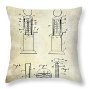1926 Toy Filling Station Patent Throw Pillow