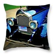 1927 Blue Buick Throw Pillow