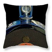 1927 Bugatti Replica Hood Ornament Throw Pillow by Jill Reger