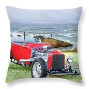 1927 Ford T Bucket Roadster 'on The Greens' Throw Pillow