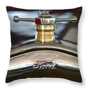 1927 Ford T Roadster Hood Ornament Throw Pillow