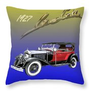 1927 Lasalle Throw Pillow