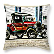 1927 Model T Ford Roadster Throw Pillow
