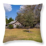 1927 Woods Home In Christmas Florida Throw Pillow
