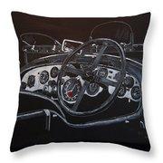 1928 Bentley Dash Throw Pillow