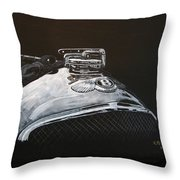 1928 Bentley Rad Cap Throw Pillow