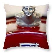 1928 Buick Custom Speedster Hood Ornament 2 Throw Pillow