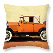1928 Classic Ford Model A Roadster Throw Pillow