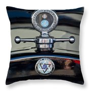 1928 Dodge Brothers Hood Ornament Throw Pillow