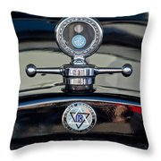 1928 Dodge Brothers Hood Ornament Throw Pillow by Jill Reger