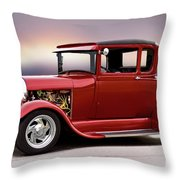 1928 Ford 'hot Rod A' Coupe Throw Pillow
