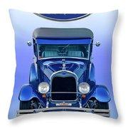 1928 Ford Tudor Sedan 'head On' Throw Pillow