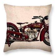 1928 Indian Motorcycle Throw Pillow