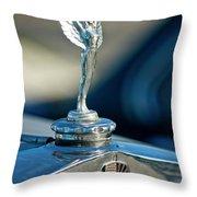 1928 Nash Coupe Hood Ornament Throw Pillow