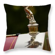 1928 Rolls-royce Phantom 1 Hood Ornament Throw Pillow