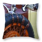 1928 Studebaker President Roadster Spare Tire Throw Pillow