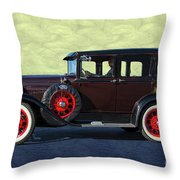 Historical Ford 4 Door Sedan Throw Pillow
