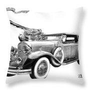 1929 Cadillac  Throw Pillow