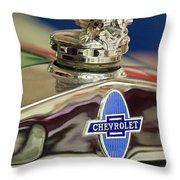 1929 Chevrolet Hood Ornament Throw Pillow