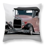 1929 Ford 'champagne Blush' Roadster Throw Pillow