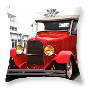 1929 Ford Hot Road Roadster II Throw Pillow