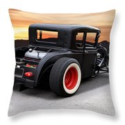 1929 Ford 'rock N Roll' Coupe Throw Pillow