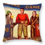 1929 Notre Dame Versus Southerncal Throw Pillow