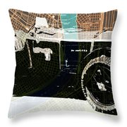 1930 Bentley 4.5 Litre Over New Orleans Old Map Throw Pillow
