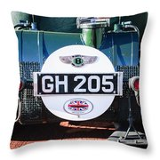 1930 Bentley Speed Six Taillights -0277c Throw Pillow