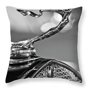 1930 Cadillac Roadster Hood Ornament 2 Throw Pillow