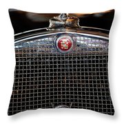 1930 Cadillac Roadster Hood Ornament 3 Throw Pillow by Jill Reger