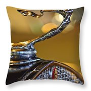 1930 Cadillac Roadster Hood Ornament Throw Pillow