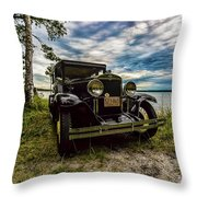 1930 Chevy On The Shore Of Higgins Lake Throw Pillow