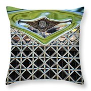 1930 Db Dodge Brothers Hood Ornament And Grille Throw Pillow