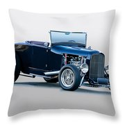 1930 Ford 'blu Mood' Roadster Throw Pillow